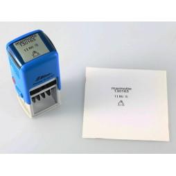 Tampon personnel avec la date et le pseudo 24 x 24 mm